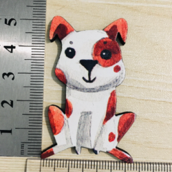 Cute Spotty Puppy Brooches / Pins / Embellishments