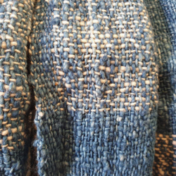 Handwoven Natural Dyed Cotton Scarf – Checked Pattern