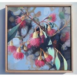 Red Gum Tree Flowers Art Print