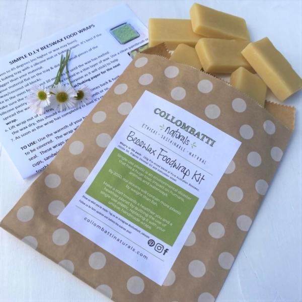 Collombatti Natural Starter Wrap Kit and Beeswax Blocks