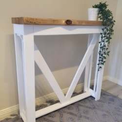 White Mahogany Timber Hall Table – Local Pick up / Delivery to NSW addresses only.
