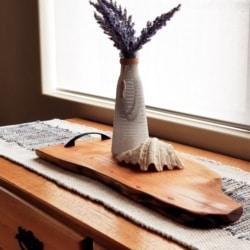 Yellow Cypress Serving Platter / Centre piece