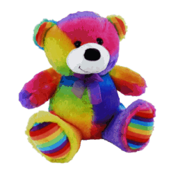 Elka Soft Plush Toy Bear Jelly 30cm – Rainbow