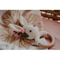 Handmade crochet rattle – Bunny