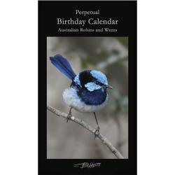 Perpetual Birthday Calendar – Australian Robins & Wrens
