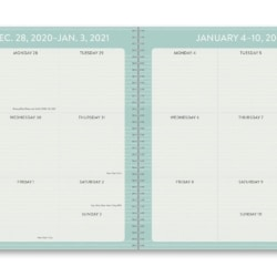 Orange Circle A5 2021 On Time Weekly Planner 17 Month – Farm Animals