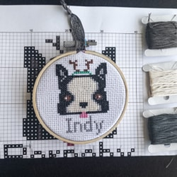Cross Stitch Kit- Indy Puppy (personalised)