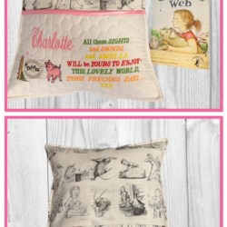 HANDMADE READING/IPAD CUSHION + INSERT – Charlotte's Web