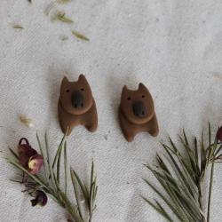Wombat Earrings