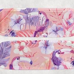 Pink Tropical Icy Pole Holder 4, Zooper Dooper, Tucan, Hibiscus