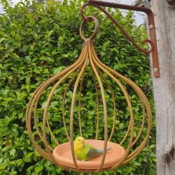 """Gum Nut"" metal bird feeder (narrow)"