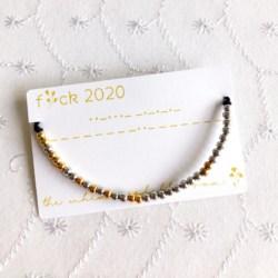 F*ck 2020 Morse Code Bracelet, New Year Bracelet, Secret Message Bracelet