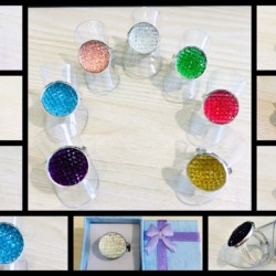 Eye-catching Colourful Rings – 7 colours – adjustable