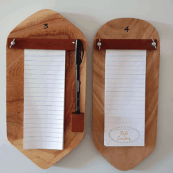 Magnetic Timber Note Pad Holder
