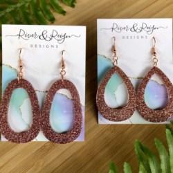 Rose Gold Drop Earrings (Lead & Nickel Free)