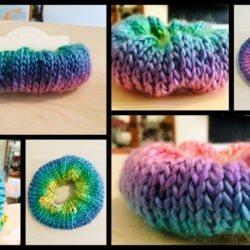 Hand Knitted Large Hair Scrunchy