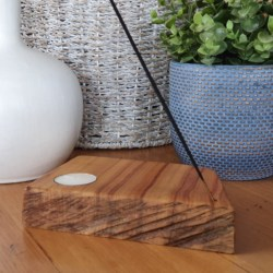 Camphor Laurel Timber Tealight Candle and Incense Holder