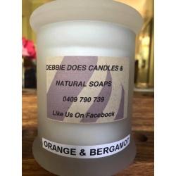 Large Candle -Orange & Bergamot