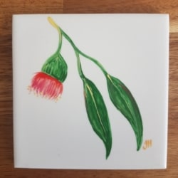 Flowering Gum Ceramic Tile Coaster