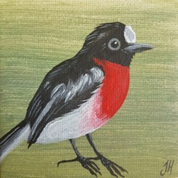 Scarlet Robin – Original Painting