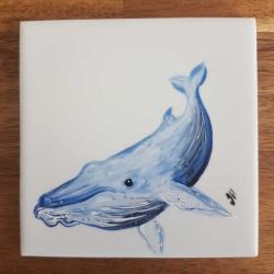 Humpback Whale Ceramic Tile Coaster