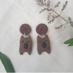 Wombat on Gumnut Earrings