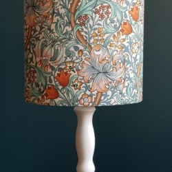 Hand crafted oval lampshade