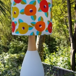 Retro style hand crafted lampshade