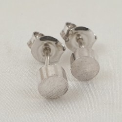 Sterling Silver Solid Circular Studs