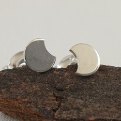 Sterling Silver Moon Bite Studs