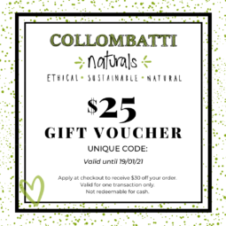 Collombatti Naturals $25 gift voucher