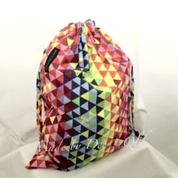 DRAWSTRING BAG | RAINBOW GEO