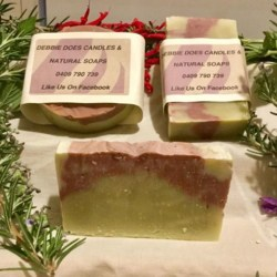 Hand Made Soap-Rose Geranium with Pink Clay