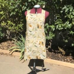Reversible Cross Back Apron/Cotton Linen apron/Pullover Apron/ Japanese style apron/cross fit apron /women's apron/work apron/pinafore apron/Natural apron/baker apron