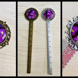 Pretty Violet Bookmarks / Rulers / Letter Openers – 2 colours