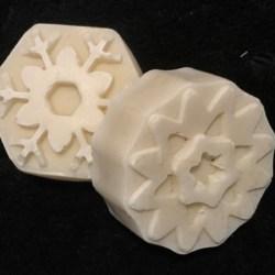 Buttermilk Snowflakes – Organic, Colour Free & Fragrance Free Handmade Soap