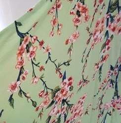Cherry Blossom Kimono – Lime