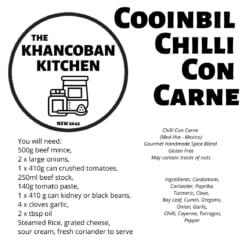 Cooinbil Chilli Con Carne