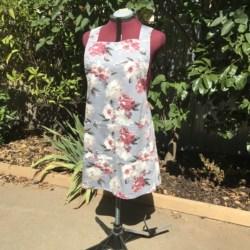 Cross Back Apron/Cotton Linen apron/Pullover Apron/Japanese style apron/cross fit apron/women's apron/work apron/pinafore apron/ Natural apron/baker apron )