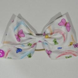 Butterflies and Rainbows Bow Ear Saver Hair Bow for Ear Loop Face Masks