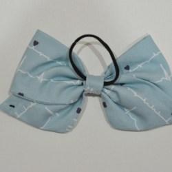 All Heart ECG Ear Saver Hair Bow for Ear Loop Face Masks