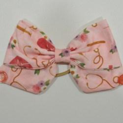 Pink Nurse Life Ear Saver Hair Bow for Ear Loop Face Masks