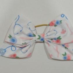 Blue Nurse Life Ear Saver Hair Bow for Ear Loop Face Masks