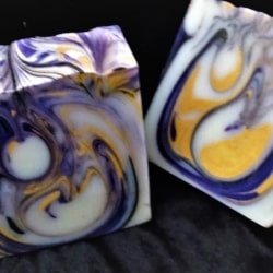 Midnight Magic Marbled Fragrance-Free Handmade Soap