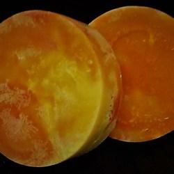 Orange Swirl Fragrance-Free Handmade Loofah Soap