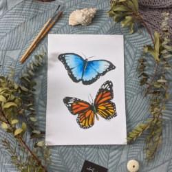 BETH & MINA – Butterflies Art Print