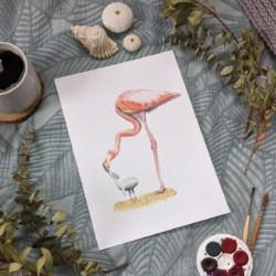 FRANKIE & FRIDA – Flamingo Art Print