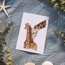 GEORGE & GRACIE – Giraffes Art Print