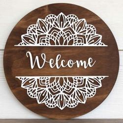 Welcome Mandala sign
