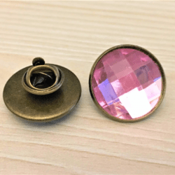 Faceted Brooches / Tie tacks / Privacy Pins / Embellishments – Bronze